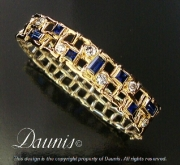 Woven bracelet with Diamonds and Sapphires