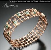 Woven Rose Gold Bracelet