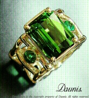 HAWeave-ring-green-tourmaline