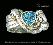 Atuik Wave white gold, Blue, Diamonds